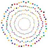 Os círculos aleatórios, pontos abstraem o elemento, forma circular Fotografia de Stock Royalty Free