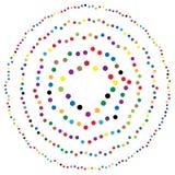 Os círculos aleatórios, pontos abstraem o elemento, forma circular Fotografia de Stock