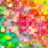 Os círculos coloridos abstratos, pontos, borbulham fundo Imagens de Stock Royalty Free
