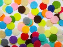 Os círculos do feltro Fotos de Stock Royalty Free