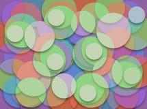 Os círculos empilharam tridimensional Imagens de Stock Royalty Free