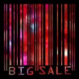 Os códigos de barra grandes da venda todos os dados são imaginários. EPS 8 ilustração royalty free