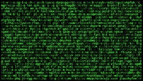 Os códigos secretos na tela, enrolando acima conceito da seguran?a do cyber ilustração stock