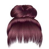 Os cabelos do bolo com opper do  da franja Ñ picam cores beaut da forma das mulheres Fotos de Stock
