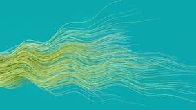os cabos de fibra ?tica 4K abstratos fluem atrav?s do quadro ilustração do vetor