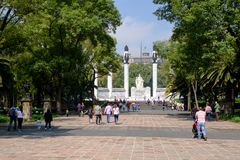 Os cadete heroicos memoráveis no parque de Chapultepec em Cidade do México foto de stock