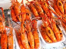 Os camarões grelharam Imagens de Stock Royalty Free
