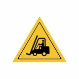 Os caminhões de empilhadeira e o outro vetor industrial do sinal dos veículos projetam ilustração stock