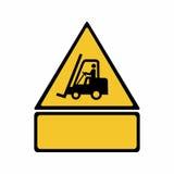 Os caminhões de empilhadeira e o outro vetor industrial do sinal dos veículos projetam ilustração do vetor