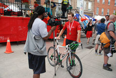 Os campeonatos de ciclagem canadenses, Georgetown, SOBRE Fotografia de Stock