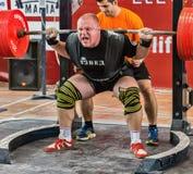 Os 2014 campeonatos do mundo que powerlifting AWPC em Moscou Fotografia de Stock Royalty Free