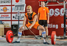Os 2014 campeonatos do mundo que powerlifting AWPC em Moscou Fotos de Stock