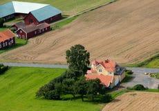 Exploração agrícola escandinava imagem de stock
