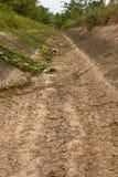 Os canais da irrigação secam. Imagens de Stock Royalty Free