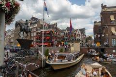 Os canais de Amsterdão Imagens de Stock