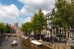 Os canais de Amsterdão Foto de Stock