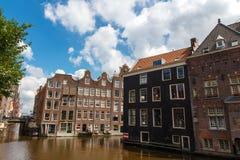 Os canais de Amsterdão Fotos de Stock