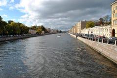 Os canais de St Petersburg foto de stock