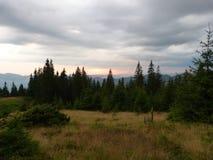 Os Carpathians ucranianos Cume Marmaros da montanha perto da cidade de Rahiv ucrânia Fotos de Stock Royalty Free
