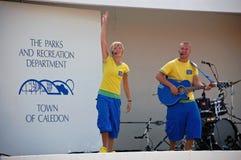 Os carregadores de N do respingo entertains na feira da queda de Erin Fotos de Stock Royalty Free