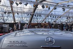Os carros exposição do conceito e projeto do automóvel - Paris 2018 Imagens de Stock Royalty Free