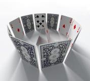 Os cartões Fotografia de Stock