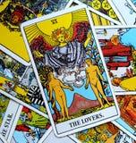 Os cartões de tarô dos amantes amam a afeição das parcerias das escolhas Ir, outro Imagem de Stock Royalty Free