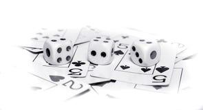Os cartões e cortam Foto de Stock Royalty Free
