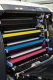 Os cartuchos de tonalizadores da impressora fecham-se acima Fotos de Stock