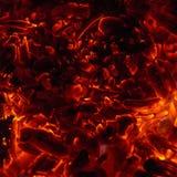Os carvões quentes do inferno imagem de stock royalty free