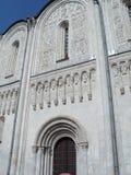 Os carvings de pedra Vladimir Dmitrievskiy Cathedral Imagens de Stock