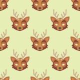 Os cervos animais dos desenhos animados party o fundo sem emenda do teste padrão do divertimento do partido da ilustração do feri Fotografia de Stock Royalty Free