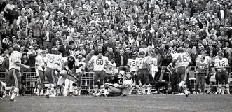 Os chefes lutam os incursores em Oakland, o 13 de dezembro de 1969 Fotos de Stock Royalty Free