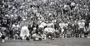 Os chefes lutam os incursores em Oakland, o 13 de dezembro de 1969 Fotos de Stock
