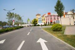 Os chineses asiáticos, Tianjin, Wuqing, Veneza são paraíso italiano da compra do estilo Fotografia de Stock