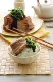 Os chineses assam a barriga de carne de porco imagem de stock royalty free