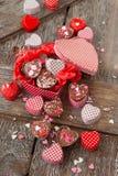 Os chocolates caseiros com polvilham Fotos de Stock Royalty Free
