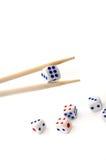 Os Chopsticks e cortam Imagem de Stock Royalty Free