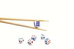 Os Chopsticks e cortam Fotos de Stock