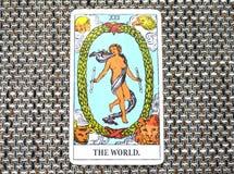 Os ciclos do estado final de Succes do curso do cartão de tarô do mundo ilustração royalty free