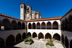 Os claustros do ` s de Tomar Knights o convento de Templar Foto de Stock