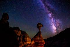 Os cogumelos venenosos, monumento nacional grande de Escadaria-Escalante fotografia de stock