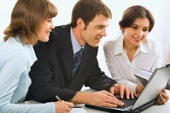 Os colares brancos discutem uma idéia Imagem de Stock Royalty Free