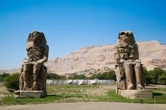 Os Colossi de Memnon Imagem de Stock