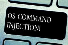 Os Comanalysisd van de handschrifttekst Injectie Concept die die Aanvalstechniek betekenen voor onwettige uitvoering van comanaly royalty-vrije stock afbeeldingen