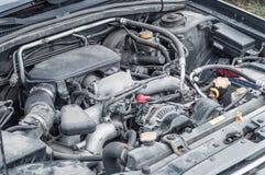 Os componentes do dispositivo do motor de autom?veis no compartimento de motor fotografia de stock royalty free