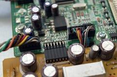 Os componentes eletrônicos de computador pessoal fecham-se acima imagens de stock royalty free