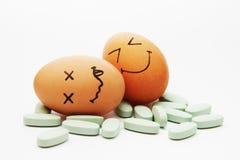 Os comprimidos começ ovos apedrejados Imagem de Stock