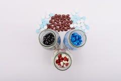 Os comprimidos da medicina para o tratamento Fotos de Stock Royalty Free