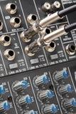 Conectores audio imagem de stock royalty free